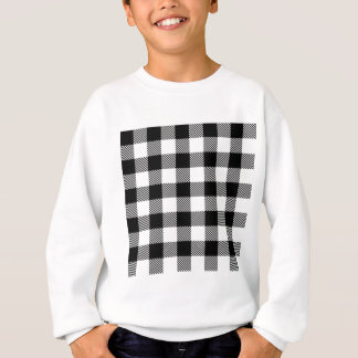 Black and White Outdoor Gingham Pattern Art Design Sweatshirt