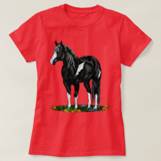 Black and White Overo Paint Horse T-Shirt