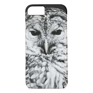 Black and White Owl Face Closeup iPhone 8/7 Case