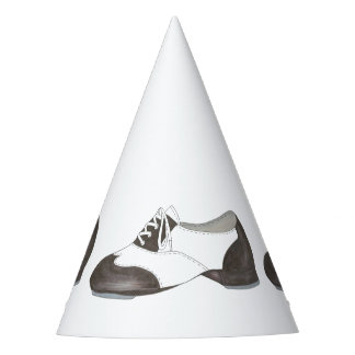 Black and White Oxford Tap Shoe Dance Shoes Dancer Party Hat