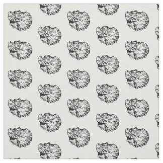 Black and White Oyster Shell Pattern Fabric