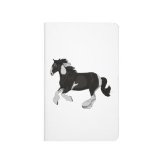 Black and White Paint Pinto Gypsy Vanner Horse Journal