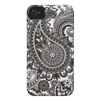 Black and White Paisley Iphone Case