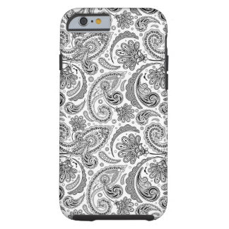 Black And White Paisley Lace Retro Pattern Tough iPhone 6 Case