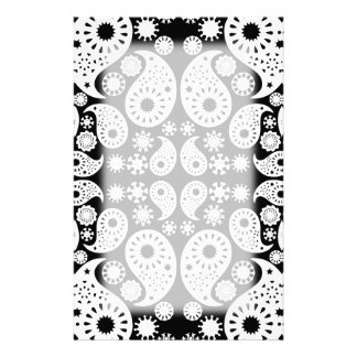 Black and White Paisley. Personalized Stationery