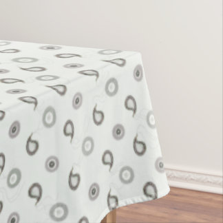 Black and White Paisley Tablecloth