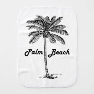 Black and white Palm Beach Florida & Palm design Baby Burp Cloths