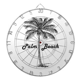 Black and white Palm Beach Florida & Palm design Dartboard