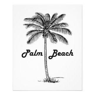 Black and white Palm Beach Florida & Palm design Flyer