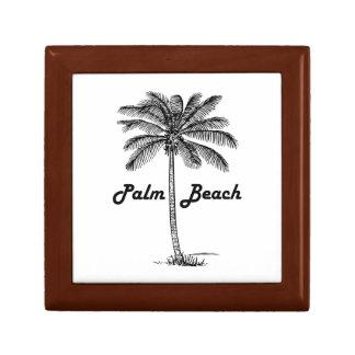 Black and white Palm Beach Florida & Palm design Gift Box