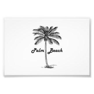 Black and white Palm Beach Florida & Palm design Photo Art