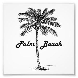 Black and white Palm Beach Florida & Palm design Photo Print