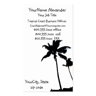 Black and White Palm Tree Business Card Template