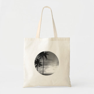 Black and White Palm Trees Budget Tote Bag