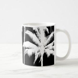 Black and White Palm Trees Mug