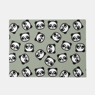 Black and White Panda Cartoon Pattern Doormat