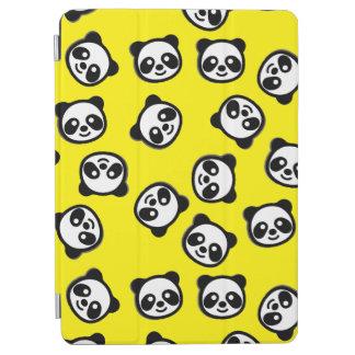 Black and White Panda Cartoon Pattern iPad Air Cover