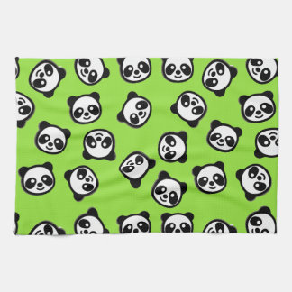 Black and White Panda Cartoon Pattern Kitchen Towel