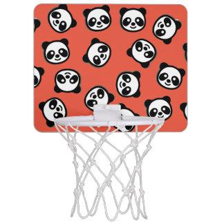 Black and White Panda Cartoon Pattern Mini Basketball Hoop