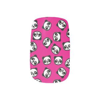 Black and White Panda Cartoon Pattern Minx Nail Art