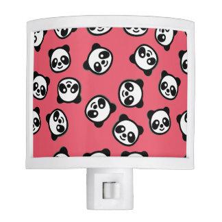 Black and White Panda Cartoon Pattern Night Lights