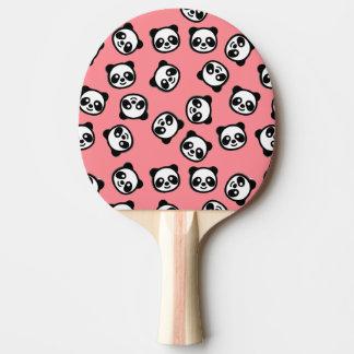 Black and White Panda Cartoon Pattern Ping Pong Paddle