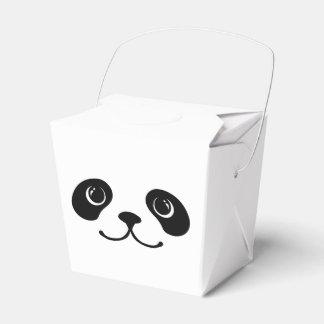 Black And White Panda Cute Animal Face Design Favor Box