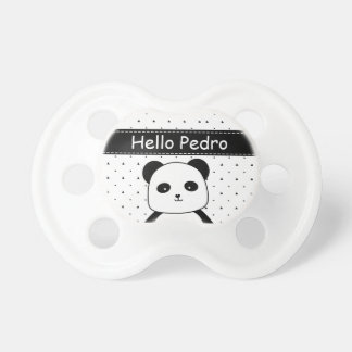 Black and White Panda Monochrome Baby Boy's Pacifier