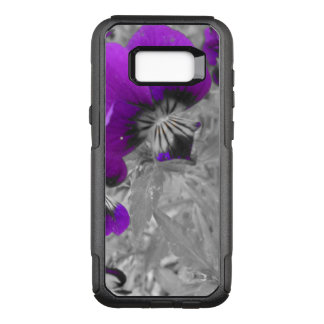 Black and White Pansy Effect OtterBox Commuter Samsung Galaxy S8+ Case