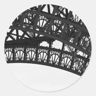 Black and White Paris Eiffel Tower Arch Sticker