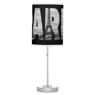 Black and White Paris Table Lamp