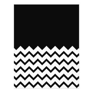 Black and White. Part Zig Zag, Part Plain Black. Full Color Flyer