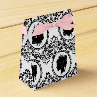 Black and White Party Favor Box