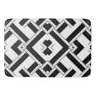 Black and White Pattern Bath Mat