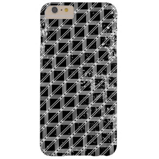 Black And White Pattern Distressed Barely There iPhone 6 Plus Case