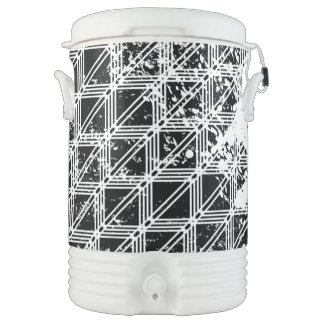 Black And White Pattern Distressed Drinks Cooler