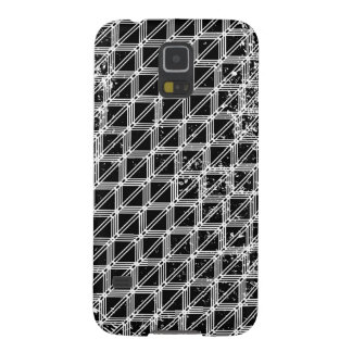 Black And White Pattern Distressed Galaxy S5 Cases