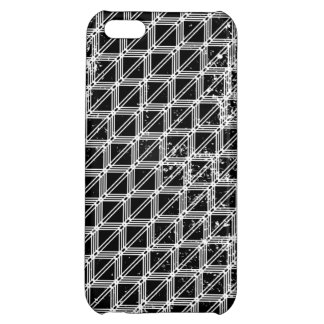 Black And White Pattern Distressed iPhone 5C Case