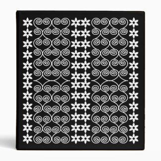 Black And White Patterned Designer binder