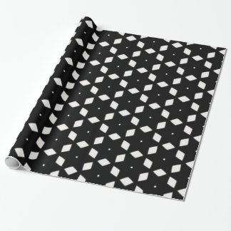 Black and White Patterns   Diamonds and Stars I Wrapping Paper