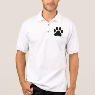 Black and White Paw Print Men's Polo T-Shirt