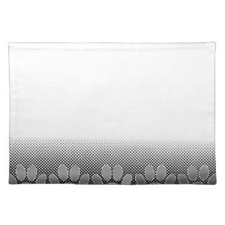 Black And White Paws Gradient Background Placemat