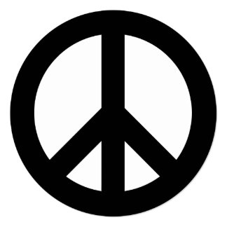 Black and White Peace Sign Card
