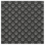 Black and White Peace Sign Fabric