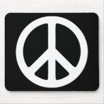 Black and White Peace Sign Mousepads