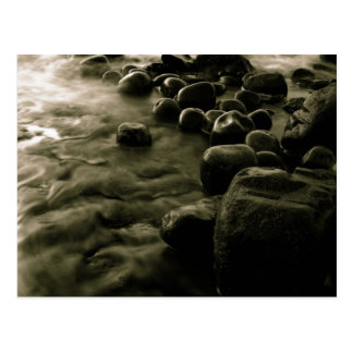 Black and White Pebbles Near The Water Postcard