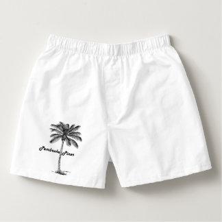 Black and White Pembroke Pines & Palm design Boxers