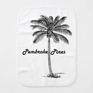 Black and White Pembroke Pines & Palm design Burp Cloth