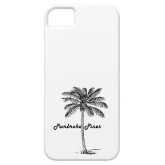 Black and White Pembroke Pines & Palm design iPhone 5 Case