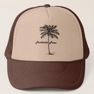 Black and White Pembroke Pines & Palm design Trucker Hat